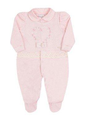macacao longo bebe menina coracao rosa paraiso 10147
