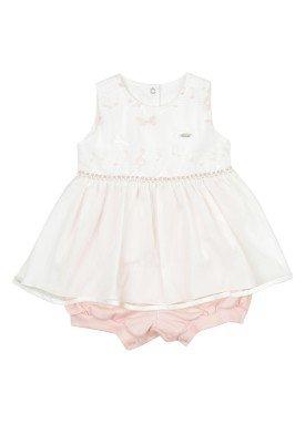 macacao banho de sol bebe feminino rosa paraiso 9530