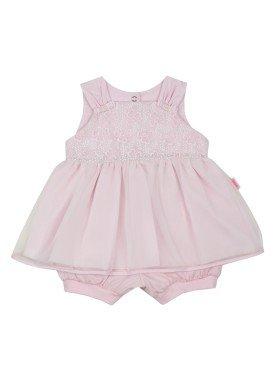 macacao banho de sol bebe feminino bordado rosa paraiso 8901