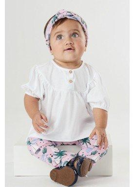 conjunto bebe feminino tropical branco upbaby 42866 1