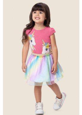 conjunto infantil feminino unicornio rosa marlan 62486 1