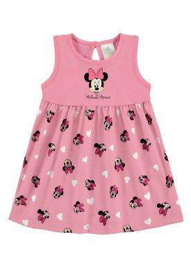 vestido bebe feminino minnie rosa marlan d6148