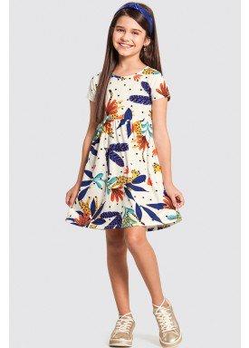 vestido infantil feminino tropical offwhite alakazoo 16050 1