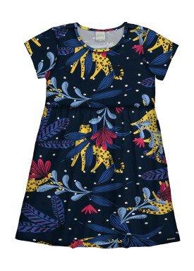 vestido infantil feminino tropical marinho alakazoo 16050