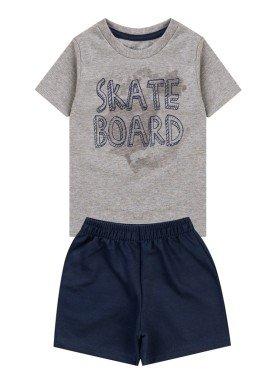 conjunto infantil masculino skateboard mescla kiiwi 1