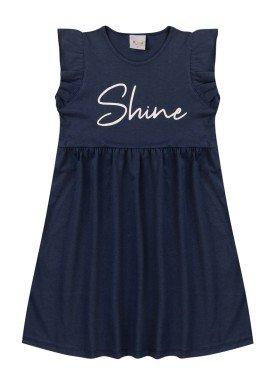 vestido infantil feminino shine marinho kiiwi