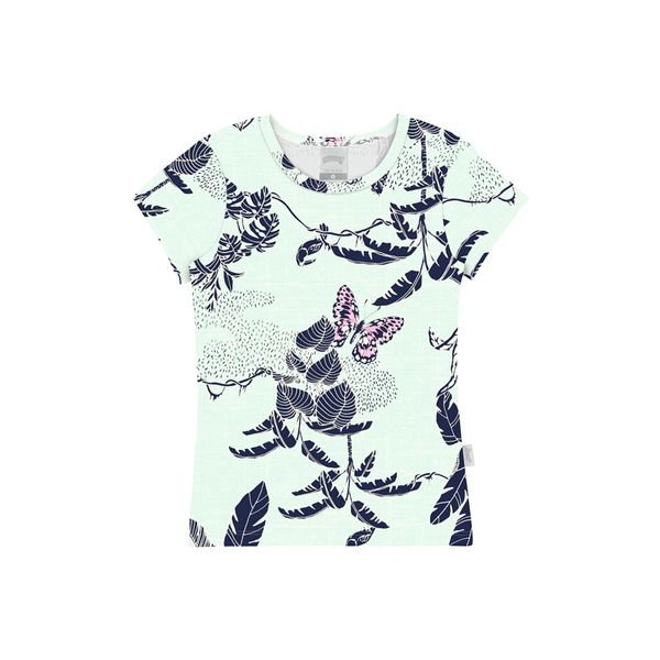 blusa infantil feminina borboleta verde alakazoo 47257