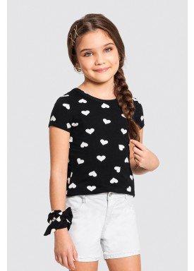 blusa infantil feminina coracoes preto alakazoo 47257 1