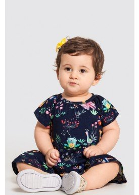 vestido bebe feminino floresta marinho alakazoo 47188 1