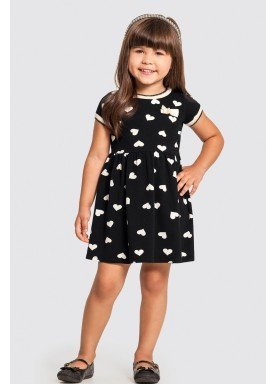 vestido infantil feminino coracoes preto alakazoo 47209 1
