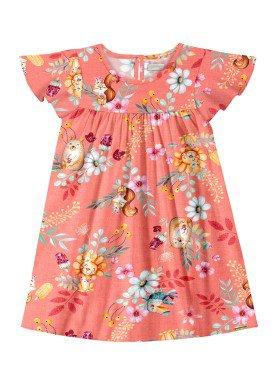 vestido infantil feminino nature salmao alakazoo 47207