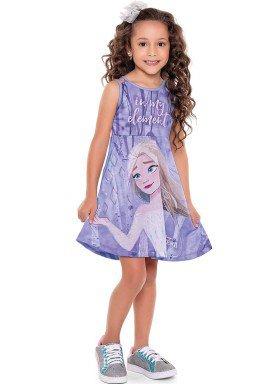 vestido infantil feminino frozen lilas fakini 3445 1
