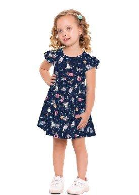 vestido infantil feminino unicornios marinho forfun 3110 1
