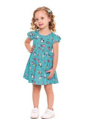 vestido infantil feminino unicornios turquesa forfun 3110 1