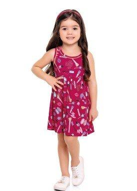 vestido infantil feminino makeup pink forfun 3111 1