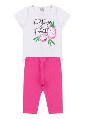 conjunto infantil feminino pitaya branco kiiwi kids 1