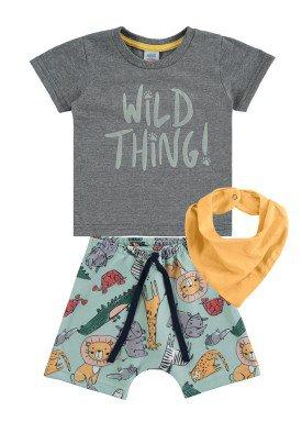 conjunto bebe masculino safari chumbo marlan 60404 1