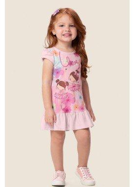vestido infantil feminino love rosa marlan 62479 1