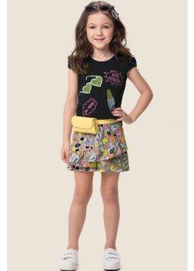 conjunto infantil feminino girl power preto marlan 64558 1