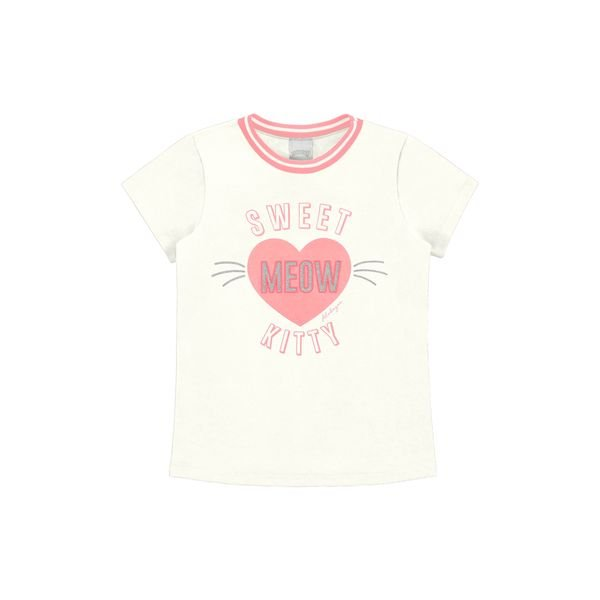 blusa infantil feminina meow offwhite alakazoo 47264