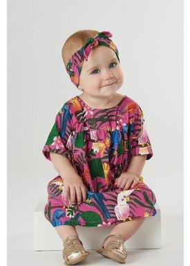 vestido bebe feminino nature pink upbaby 42877 1