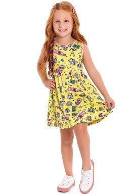 vestido infantil feminino soda pop amarelo fakini forfun 3119 1