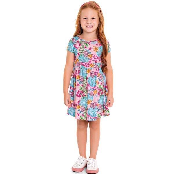 vestido infantil feminino hibiscus rosa fakini forfun 3121 1