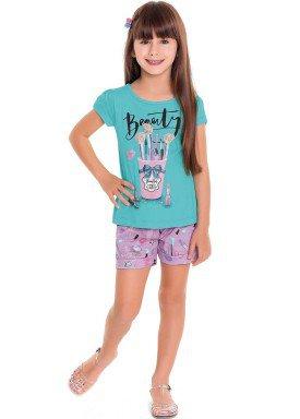 conjunto infantil feminino beauty azul fakini forfun 3126 1