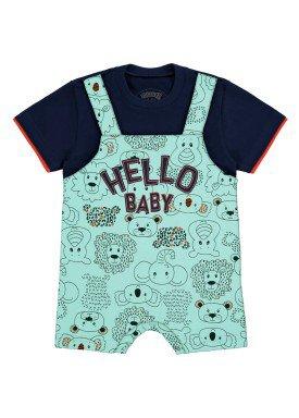 macaquinho bebe masculino hello baby marinho 46807