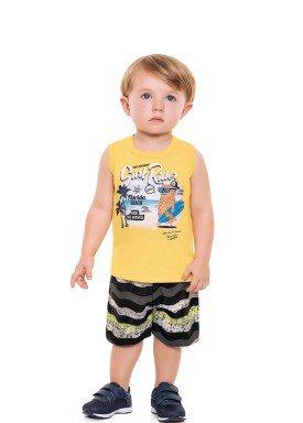 conjunto bebe masculino surf rider amarelo fakini forfun 3153 1