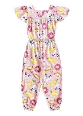 macacao infantil feminino pool rosa fakini 3050