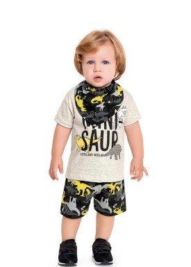 conjunto bebe masculino minisaur mescla fakini 3209 1