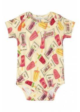 body bebe feminino picoles amarelo upbaby 42938