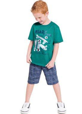 conjunto infantil masculino skate verde brandili 34602 1