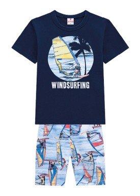 conjunto infantil masculino windsurfing marinho brandili 34280