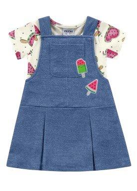 conjunto bebe feminino melancia azul fakini 3014
