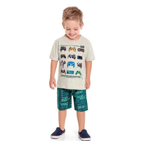 conjunto infantil masculino game mescla fakini 3234 1