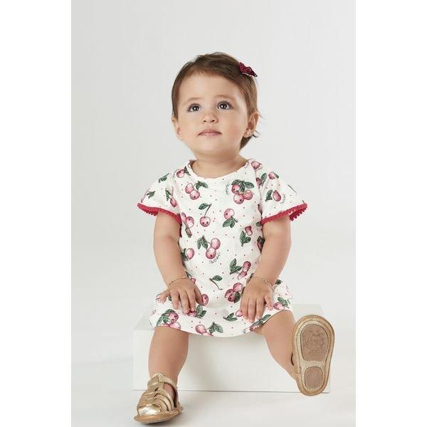 vestido body bebe feminino cherries natural upbaby 42293 1