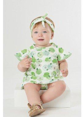 vestido body bebe feminino apples verde upbaby 42293 1