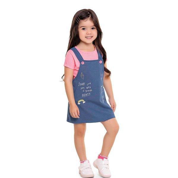 conjunto infantil feminino party rosa fakini 3037 1