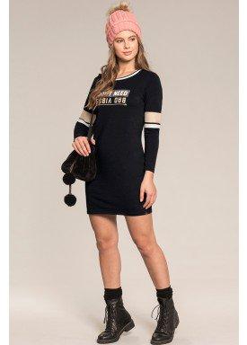 vestido manga longa juvenil feminino dont need preto lunender hits 67593 1