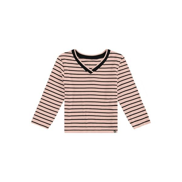 blusa manga longa juvenil feminina listras rosa lunender hits 67603