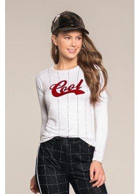 blusa manga longa juvenil feminina cool branco lunender hits 67599 2