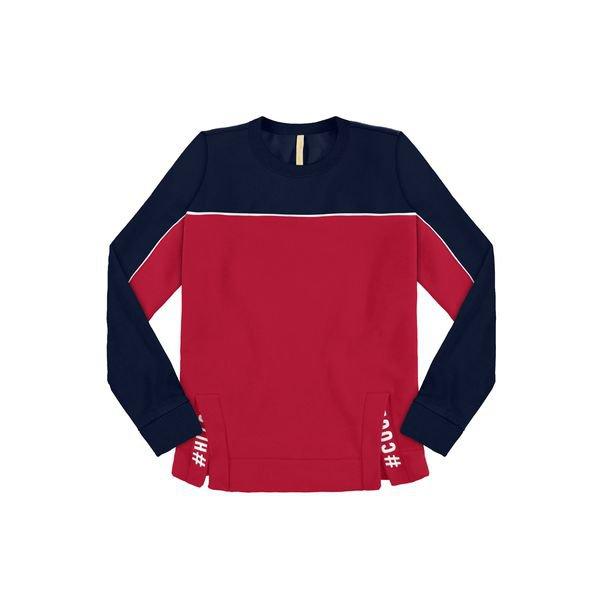 blusao moletom juvenil feminino cool vermelho lunender hits 67577
