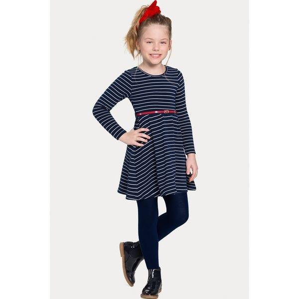 vestido infantil juvenil feminino listrado marinho alakazoo 67535 1