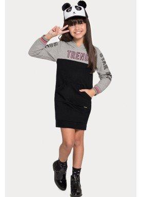 vestido moletom infantil juvenil feminino trend mescla alakazoo 67533 1