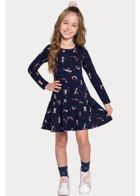 vestido manga longa infantil feminino cats marinho alakazoo 11375 1