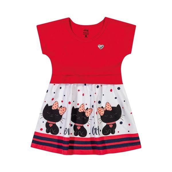 vestido bebe feminino love cat vermelho elian 211066