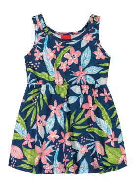 vestido bebe feminino floral marinho elian 211074