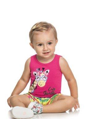 conjunto bebe feminino girafa pink elian 211075 2